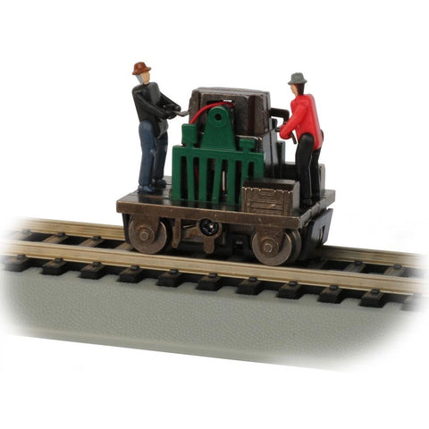 BACHMANN HO scale Gandy Dancer Operating Hand Car (160-46223)