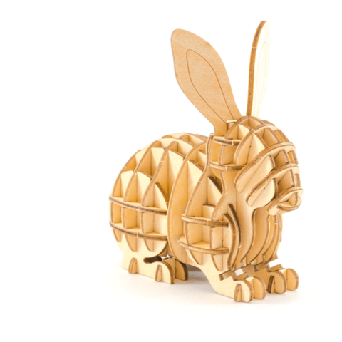 Image of KI-GU-MI Plywood Puzzle - Rabbit
