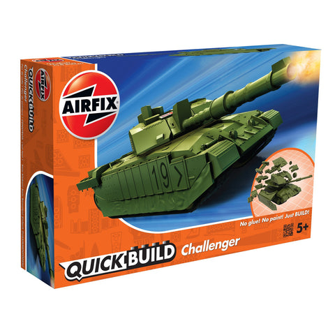 Image of AIRFIX Quickbuild Challenger Tank - Green