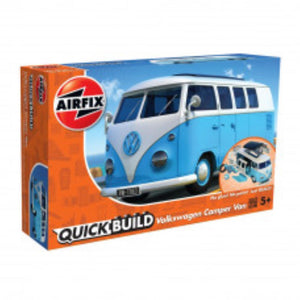 AIRFIX QUICKBUILD VW CAMPER VAN - BLUE (56-J6024)