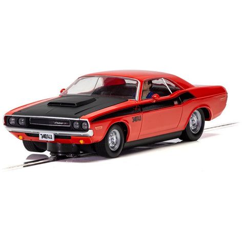 Image of SCALEXTRIC DODGE CHALLENGER T/A - RED AND BLACK