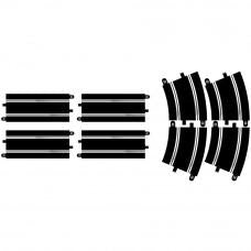 SCALEXTRIC Track Extension Pack 7 - 4 x Straights & 4 x R4 Curves