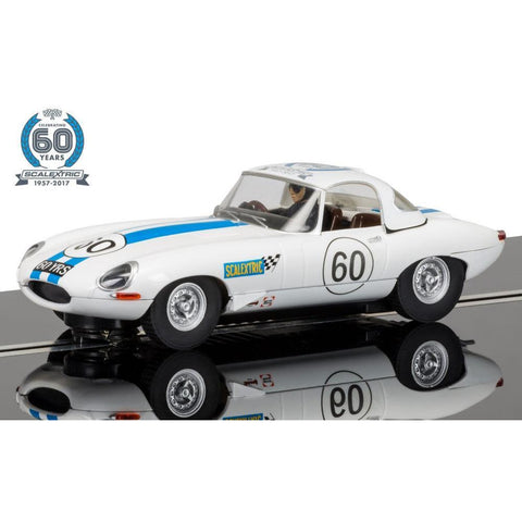 SCALEXTRIC 1960 Jaguar E-Type Anniversary Collection Car No