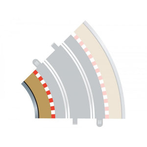 SCALEXTRIC BORDERS & BARRIERS 45 DEGREES INNER (FOR C8206)