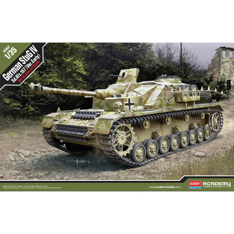 "ACADEMY 1/35 German StuG IV Sd.Kfz.167 ""Ver.Early"" Plastic"