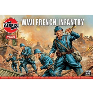 AIRFIX WWI FRENCH INFANTRY 1:76  (58-00728V)