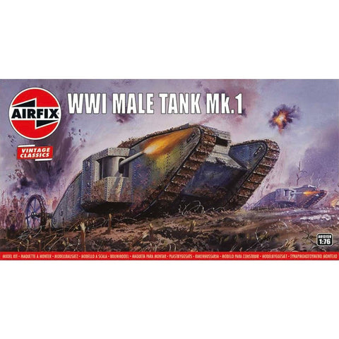 AIRFIX 1/76 WWI Male Tank