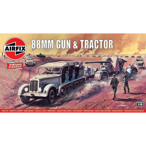 Image of AIRFIX 88MM FLAK GUN & TRACTOR 1:76 (58-02303V)