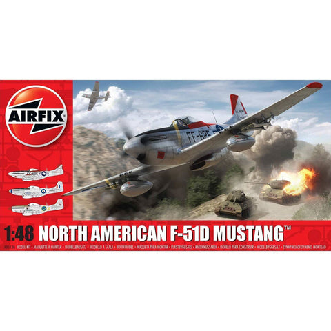 AIRFIX NORTH AMERICAN F51D MUSTANG 1:48 (58-05136)
