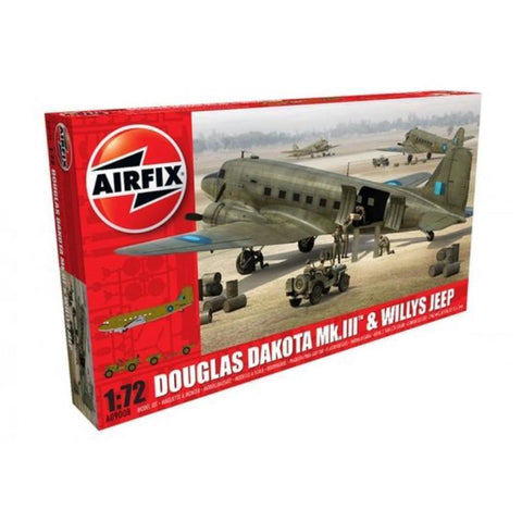 AIRFIX 1/72 Douglas Dakota MKIII & Willys Jeep