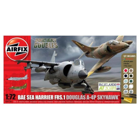 AIRFIX DOGFIGHT DOUBLE A-4/HARRIER FRS-!