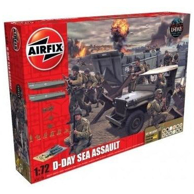 AIRFIX 1/72 D-Day 75th Anniversary Sea Assault Gift Set