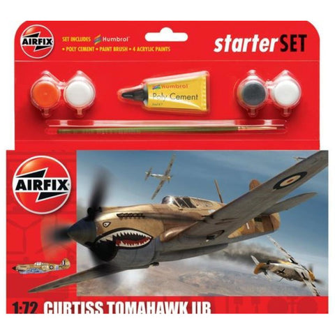 AIRFIX 1/72 Curtiss Tomahawk Starter Set