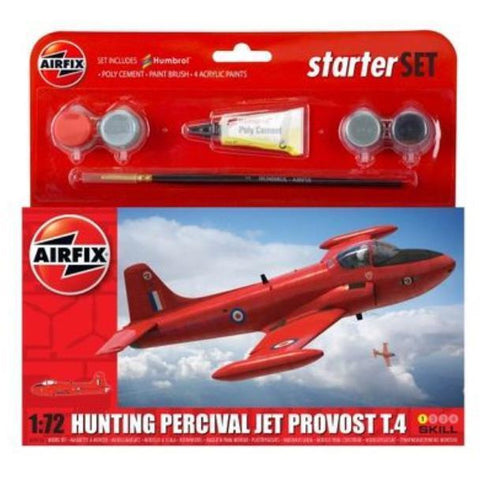 AIRFIX SMALL STARTER SET - HUNTING PERCIVAL JET PROVOST T3 1/72 - NEW LIVERY