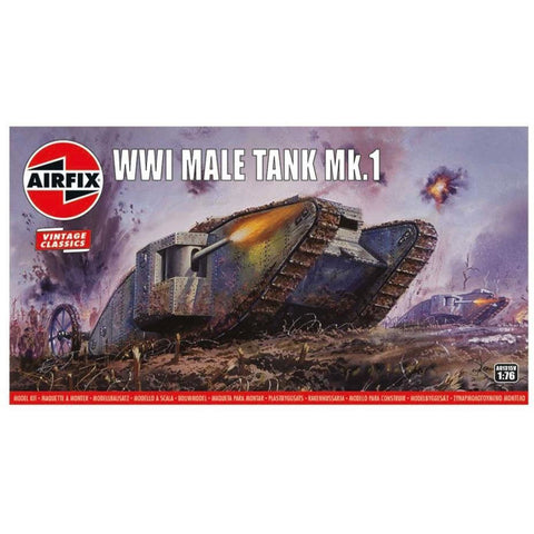 "AIRFIX WWI ""Male"" Tank 1:76 Scale (58-A01315V)"