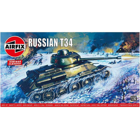 AIRFIX Russian T-34 Tank 1:76 Scale (58-A01316V)