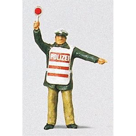 PREISER Policeman w/Safety Vest - Hearns Hobbies Melbourne - PREISER