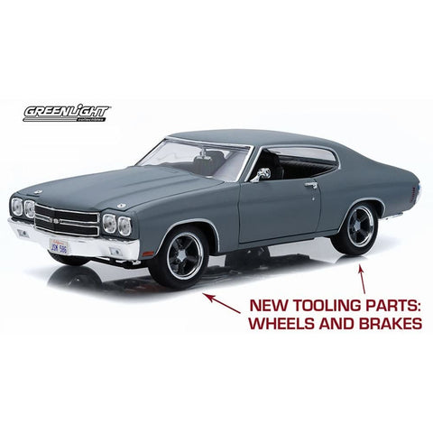 GREENLIGHT 1:18 F&F 1970 Chevy Chevelle SS Grey FastFurious