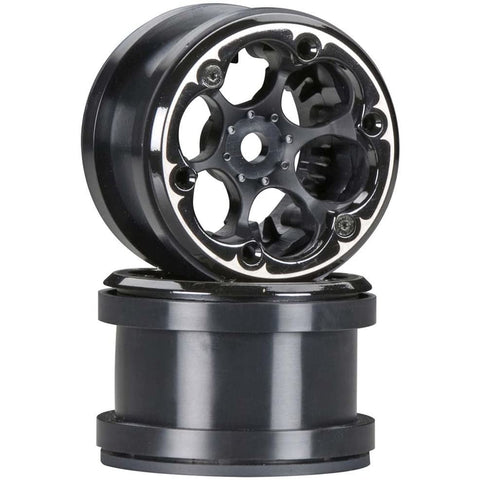 AXIAL 2.2 VWS Beadlock Wheels Black (2)