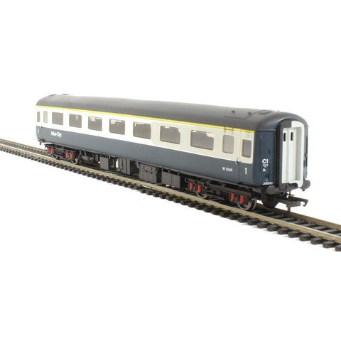 HORNBY BR MK2E FIRST CLASS OPEN COACH, BR BLUE & GREY, WORKING LIGHTS - Hearns Hobbies Melbourne - HORNBY