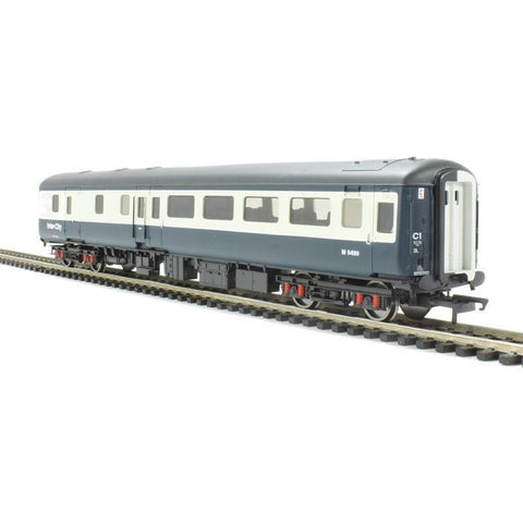 HORNBY BR MK2E STANDARD OPEN BRAKE COACH, BR BLUE & GREY, WORKING LIGHTS - Hearns Hobbies Melbourne - HORNBY