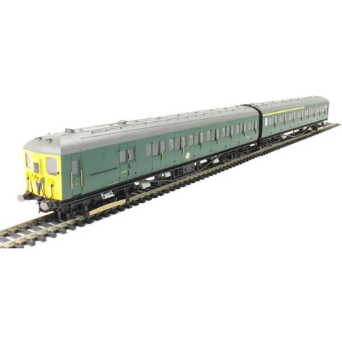 HORNBY BR 2-HAL 2 CAR ELECTRIC MULTIPLE UNIT, BR GREEN, YELLOW FRONT - Hearns Hobbies Melbourne - HORNBY