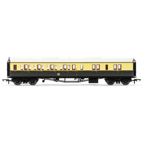 HORNBY GWR COLLETT COACH CORRIDOR BRAKE 3RD RH - 1930'S BROWN AND CREAM