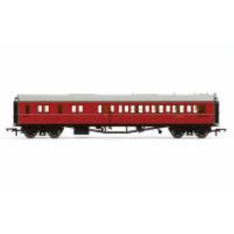 HORNBY BR Collett Coach Corridor Brake Third Class LH, Maroon - Hearns Hobbies Melbourne - HORNBY