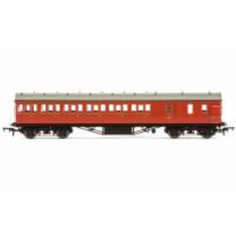 HORNBY A BR Ex-LMS Suburban Non-Corridor Third Class Brake Coach, Crimson - Hearns Hobbies Melbourne - HORNBY