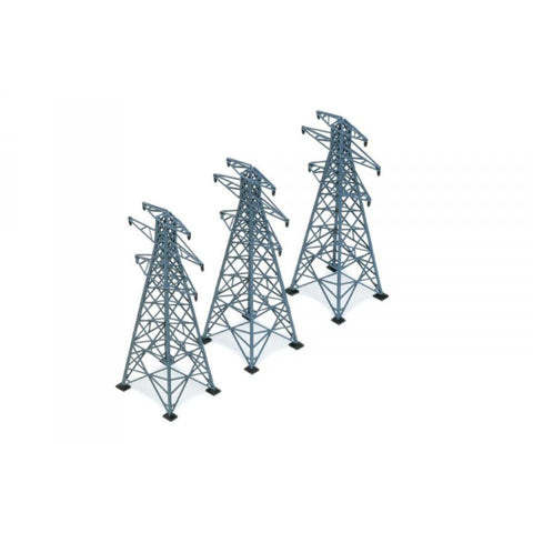 HORNBY 3 ELECTRICITY PYLONS - Hearns Hobbies Melbourne - HORNBY