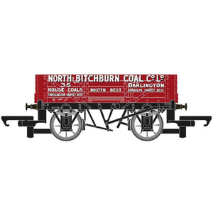 HORNBY 4 Plank Wagon 'North Bitchburn Coal Co. Ltd' - Hornby 2017
