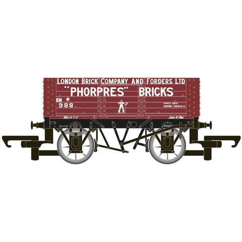 HORNBY 6 PLANK WAGON 'LONDON BRICK COMPANY' - Hearns Hobbies Melbourne - HORNBY