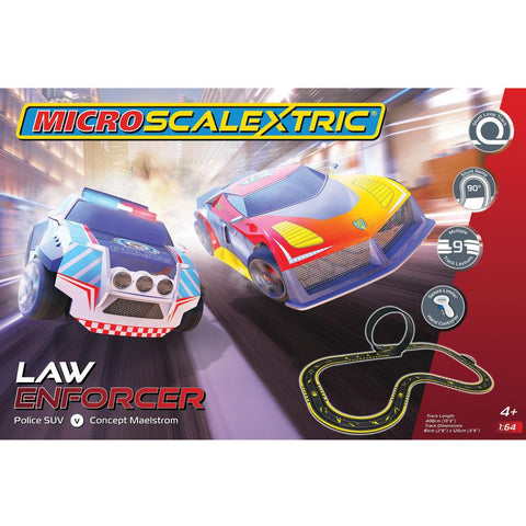 MICRO SCALEXTRIC Law Enforcer Mains Powered Slot Car Set