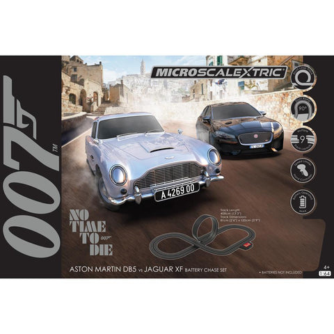 "MICRO SCALEXTRIC James Bond ""No Time To Die"" Battery Powered Slot Car Set"