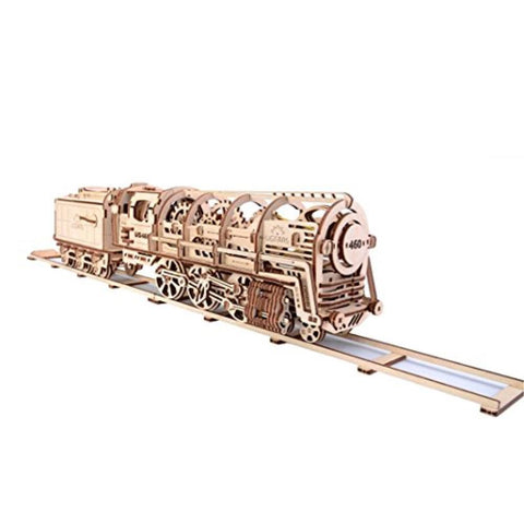 UGEARS Steam Locomotive with tender and almost 50cm of track (UG-70012)