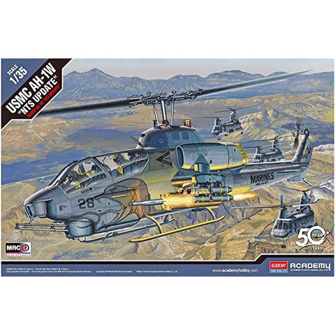 "ACADEMY 1/35 USMC AH-1W ""NTS Update"" Plastic Model Kit"
