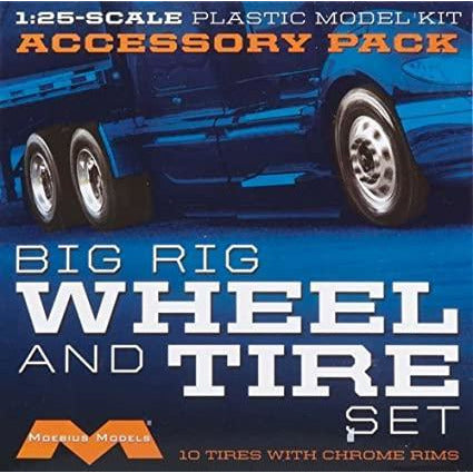 MOEBIUS 1010 Semi Wheels/Tires (10pk) Plastic Model Kit