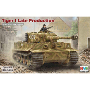 RYEFIELD 5015 1/35 Tiger I Late Production Sd.Kfz.181 Pz.Kpfw.VI