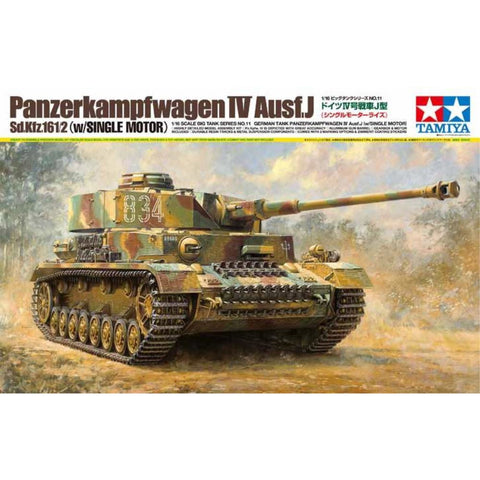 TAMIYA German Tank Panzerkampfwagen IV Ausf.J Includes Single Motor. 1:16 Scale (74-T36211)