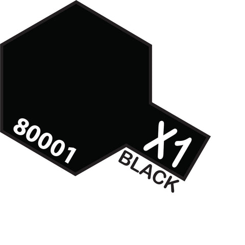 Image of TAMIYA X-1 BLACK - ENAMEL
