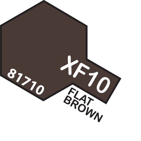 Image of TAMIYA Acrylic XF-10 FLAT BROWN