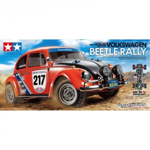 TAMIYA 1:10 Scale R/C Volkswagen Beetle Rally 4WD Car Kit  MF-01X Chassis (76-58650)