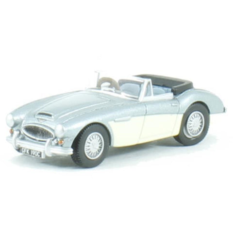 OXFORD 1/76 Austin Healey 3000 (Blue/Ivory) - Hearns Hobbies Melbourne - Oxford