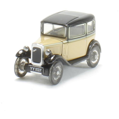 OXFORD 1/76 Austin Seven RN Saloon Fawn - Hearns Hobbies Melbourne - Oxford