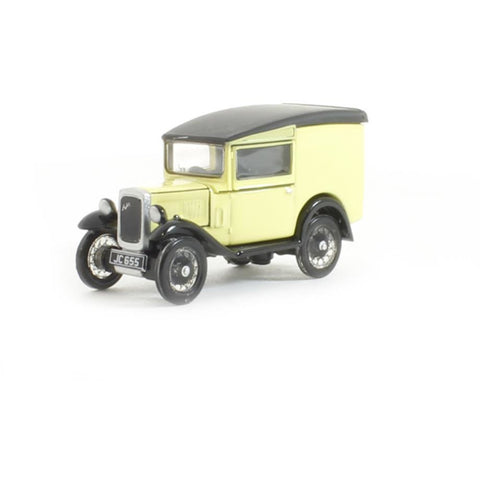 OXFORD 1/76 Austin Seven RN Van Primrose - Hearns Hobbies Melbourne - Oxford