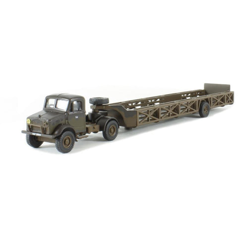 OXFORD 1/76 Bedford OX Queen Mary Trailer RAF - Hearns Hobbies Melbourne - Oxford
