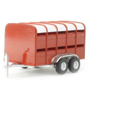 OXFORD 1/76 Livestock Trailer Red - Hearns Hobbies Melbourne - Oxford
