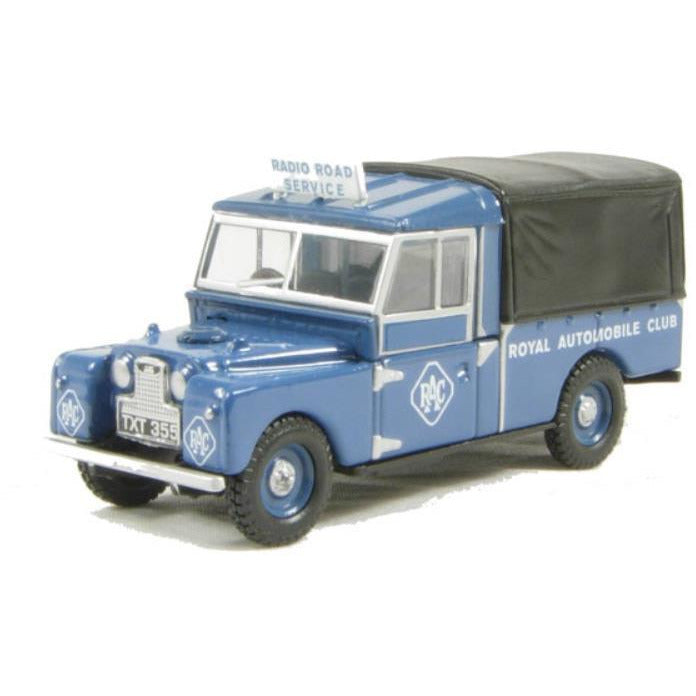 "OXFORD 1/76 Land Rover 109""Canvas RAC - Hearns Hobbies Melbourne - Oxford"