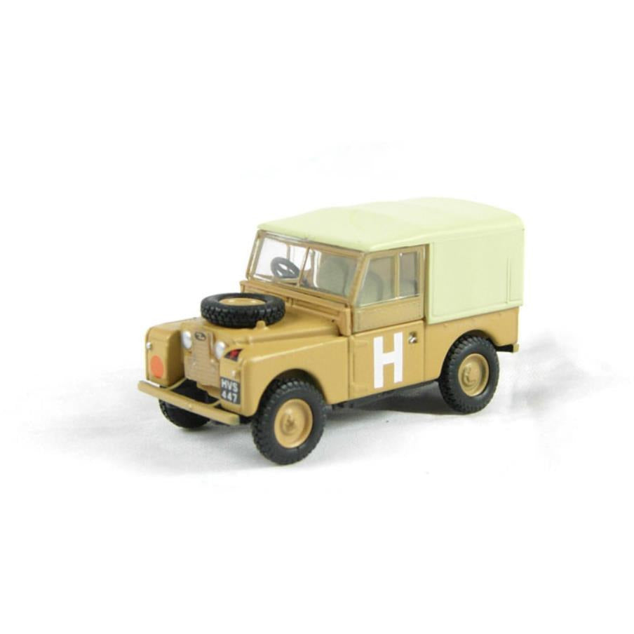 OXFORD 1/76 Land Rover Ser.1 88' Canvas (Sand) - Hearns Hobbies Melbourne - Oxford