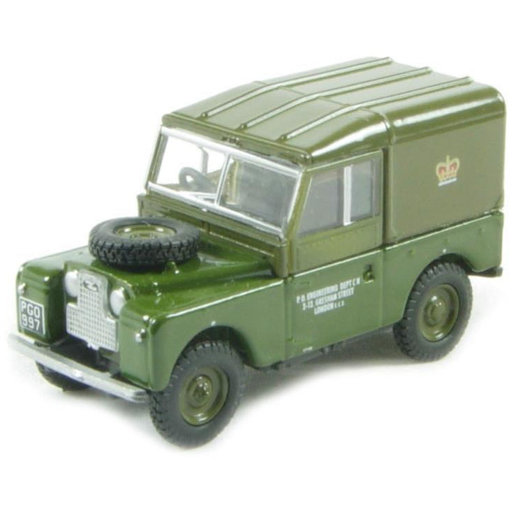 OXFORD 1/76 L/Rover Ser.1  88' H/Top P/Office - Hearns Hobbies Melbourne - Oxford